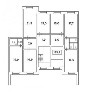 Коммерческое помещение 185,9 кв. м.