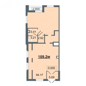 Коммерческое помещение 109,2 кв. м.