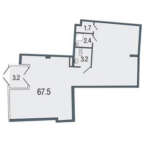 Коммерческое помещение 78 кв.м.