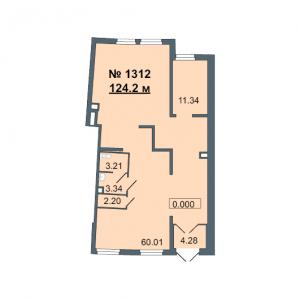 Коммерческое помещение 124 кв.м. ЖК Green City (Грин Сити)