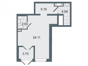 Коммерческое помещение 39 кв.м. Дом у Московского TIME