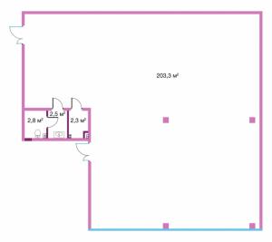 Коммерческое помещение 210,9 кв.м. Legenda на Оптиков, 34